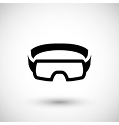 Protective goggles icon vector image