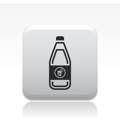 Cocktail bottle icon vector