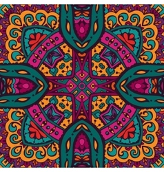 Abstract tribal ethnic seamless pattern intricate vector