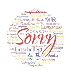 Sorry foreign languages vector