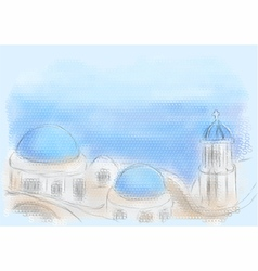 Greece santorini vector