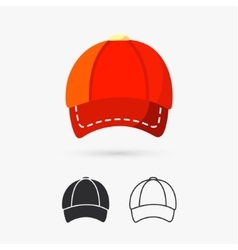 Cap design element vector