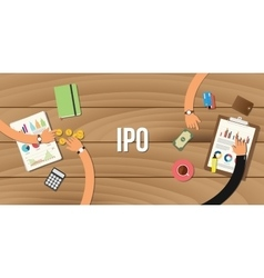 Ipo initial public offering vector