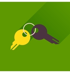 Flat icon with long shadow bunch of keys vector