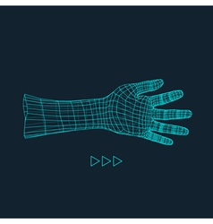 Human arm hand model hand 3d geometric design vector