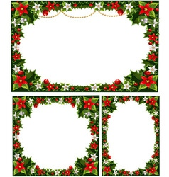 Collection of beautiful decorative frames vector