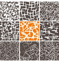 Abstract Doodle Seamless Patterns Set vector image