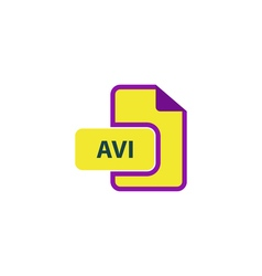 Avi icon vector