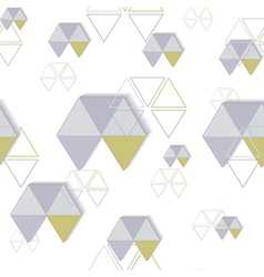 background of hexagon and triangle vector image vector image