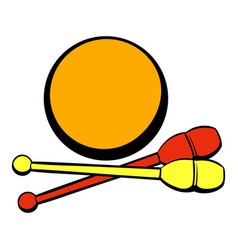Bowling ball and pins icon icon cartoon vector