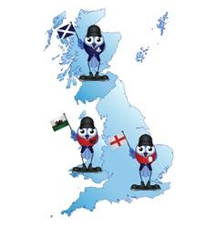 British isle map vector