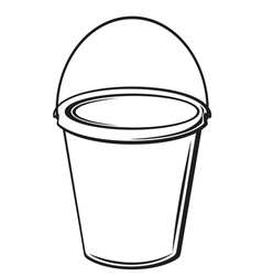 bucket with handle vector image