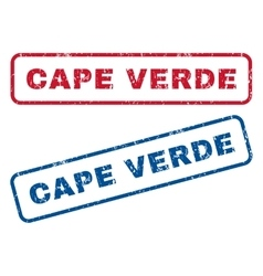 Cape verde rubber stamps vector