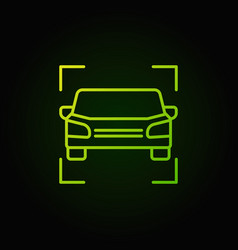 car green icon - vehicle outline concept vector image