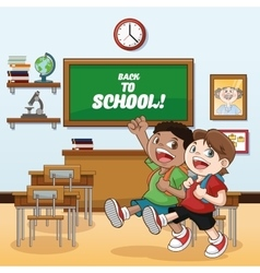 Classroom back to school design vector