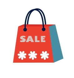 Concept card for sales Shopping bag with Sale vector image vector image