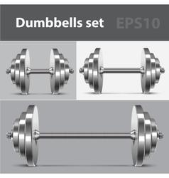 Dumbbells set vector image