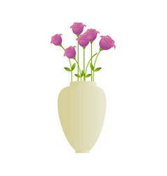 flower pot decorative icon vector image vector image