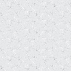 Grey seamless wallpaper with floral pattern vector image vector image