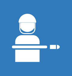 Icon bullet wounded soldier vector