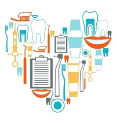 Medical background design with dental equipment vector image