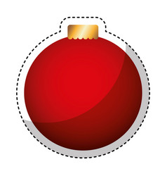 merry christmas balls decorative card vector image