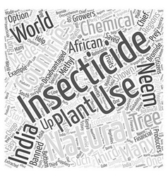 Natural insecticide and the third world word cloud vector