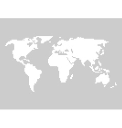 Pixelated world map vector image