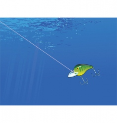 Underwater lure vector