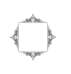 vintage swirl frame vector image vector image