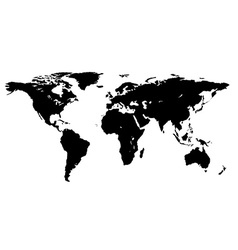 world map isolated on a white background vector image