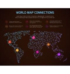 world polygonal map communication vector image vector image