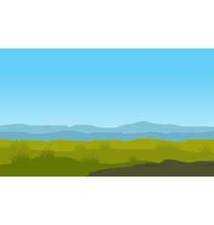 Nature landscape with blue sky vector