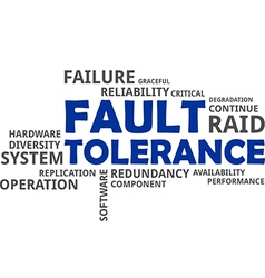 Word cloud fault tolerance vector