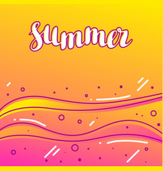 summer on sandy beach stylized of vector image