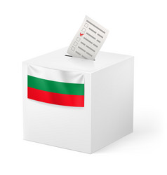 Election in bulgaria ballot box with voicing vector