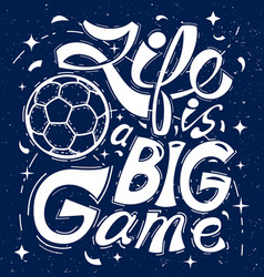 life is a big game on green background vector image