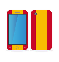 Mobile phone case with the flag of spain vector