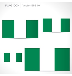 Nigeria flag template vector