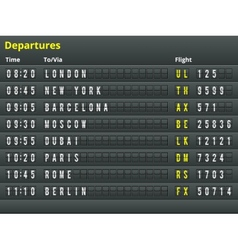 Airport departures table vector