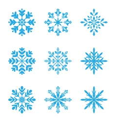 Collection of variation snowflakes isolated on vector