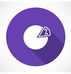 Percentage icon vector