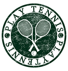 Play tennis vector
