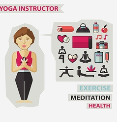 Profession of people flat infographic yoga vector