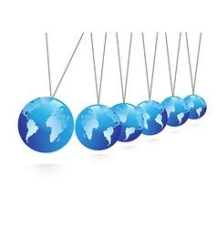 Balancing spheres vector image