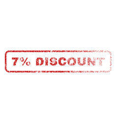7 percent discount rubber stamp vector