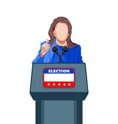 Female politician speech vector image