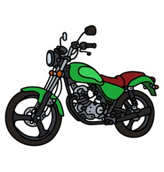 Green light motorcycle vector