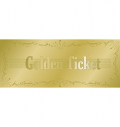 golden ticket vector image