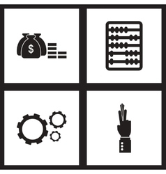 Concept flat icons in black and white economy vector